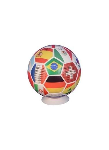 Doppler Futbol Topu Bluetooth Kablosuz Hoparlör Büyük Boy Ülkeler Bayraklı Renkli
